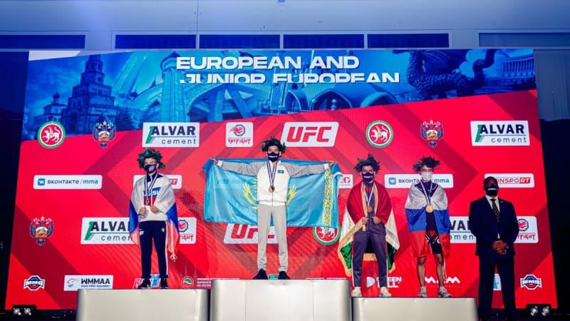 Три золотые медали привезли казахстанцы с чемпионата Европы по ММА